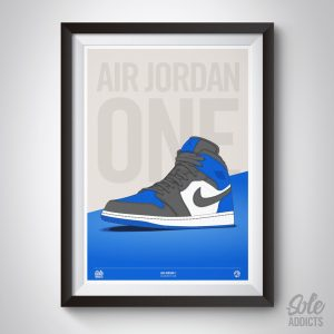 Air Jordan 1 Blue artwork print