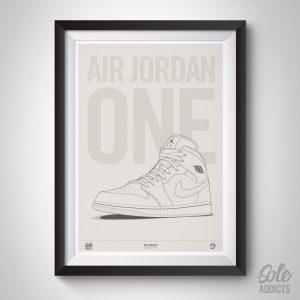 Air Jordan 1 Art print by Soleaddicts.com