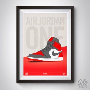 Air Jordan 1 Red Print